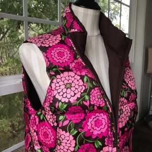 Lilly Pulitzer reversible down vest